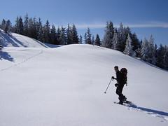 Schneeschuhwanderin