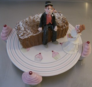 Mother's Day Cake Stand and Sugar Bride & Groom