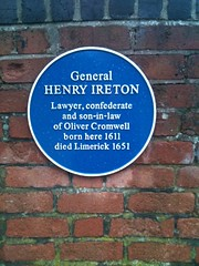Photo of Henry Ireton blue plaque