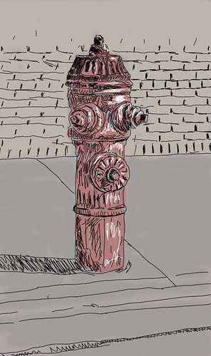 fire hydrant in color