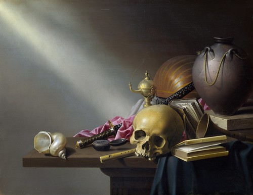 Harmen Steenwyck - Still Life, An Allegory of the Vanities of Human Life [c.1640] by Gandalf's Gallery