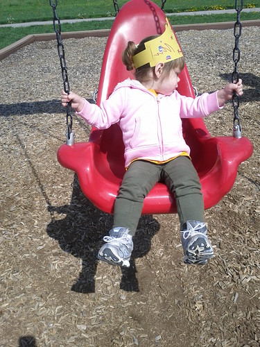 Swinging 2 year old