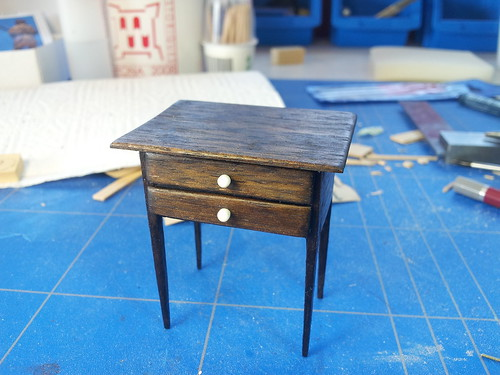 CDHM Artisan David Gironella creating 1:12 scale furniture for the dollhouse miniature collector.  Including period furniture, queen anne, edwardian, and modern