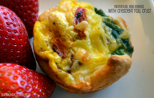 Easter Brunch: Individual Egg Bakes With Crescent Roll Crust