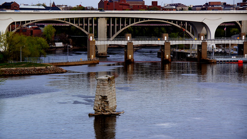 Last Remnants of the Original 10th Ave Bridge on the Downtown Minneapolis Riverfront