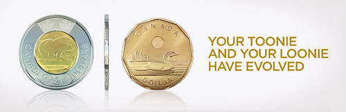New loonie and toonie