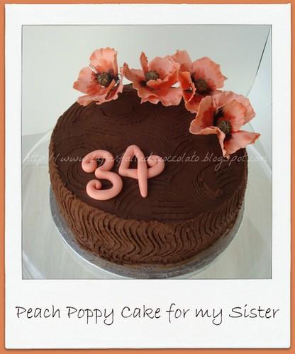 Peach Poppy Cake