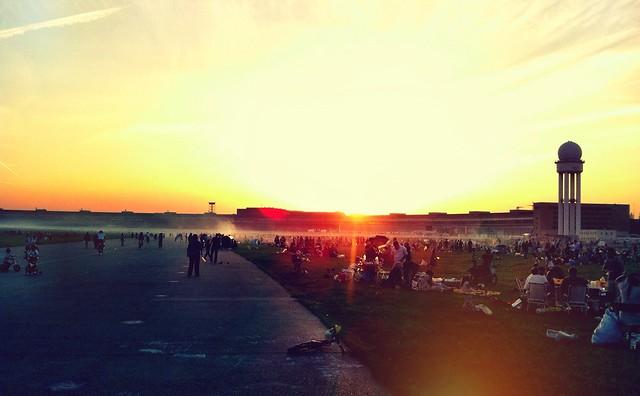 tempelhof sunset