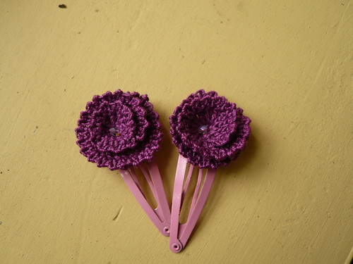 Simple Flower hairclips