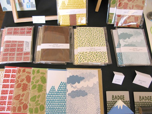 Notebooks and cards by Louise Smurthwaite at The Market, April 28th 2012
