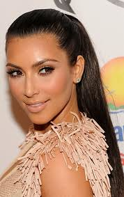 Kim Kardashian Sleek Ponytail Celebrity Style Fashion