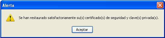 ok importación de certificados
