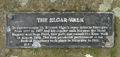 Photo of Edward Elgar grey plaque