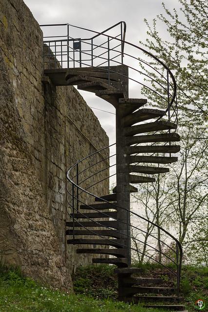 Wendeltreppe in einer Burg?
