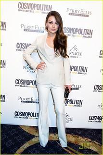 Mila Kunis White Trousers Celebrity Style Women's Fashion