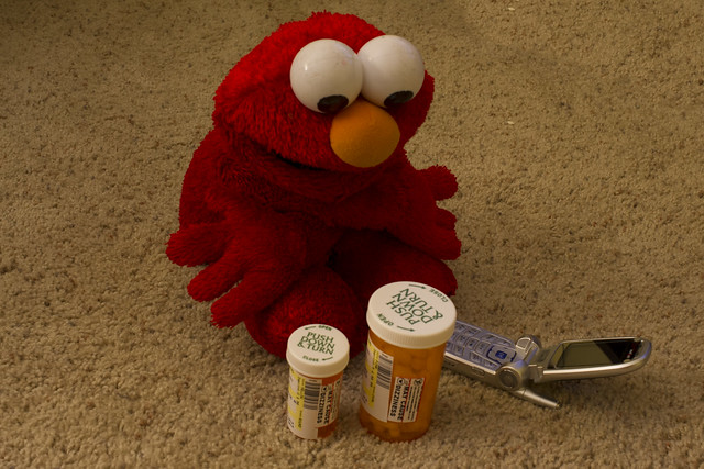 Elmo's in a bad way . . .
