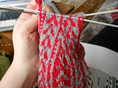 Woodruff sock верхняя часть мыска, закончились убавления после пятки
