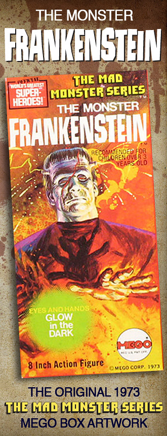 Mego Frankenstein Artwork by Gray Morrow.