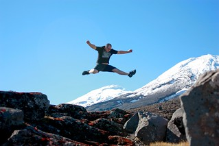 Jumping Mt Ruapehu