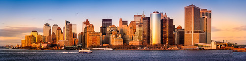 city nyc sunset panorama skyline cityscape manhattan