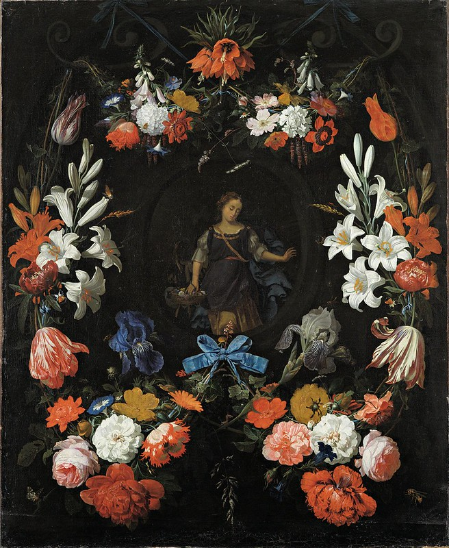 Abraham Mignon - Garland of Flowers (c.1675)