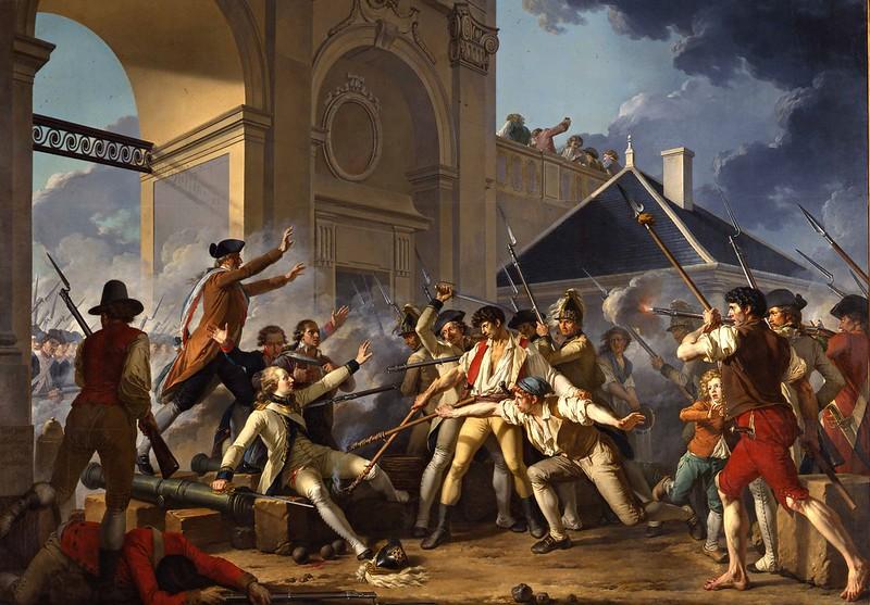 Jean-Jacques-François Le Barbier - Le Courage héroïque du jeune Désilles, le 31 août 1790, à l'affaire de Nancy