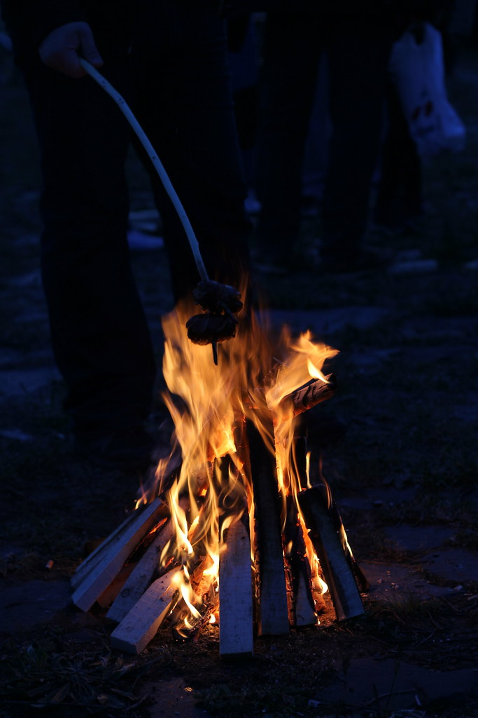 Čarodějnice (Walpurgis) is not just about burning a witch effigy, but also about gathering to grill some sausages around the fire.