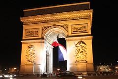arch, landmark, architecture, monument, night, triumphal arch,