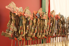 Shadow puppets from Indonesia