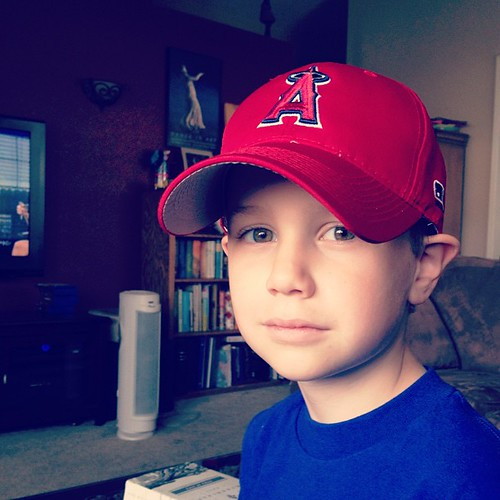 There's nothing like my boy in his baseball cap!