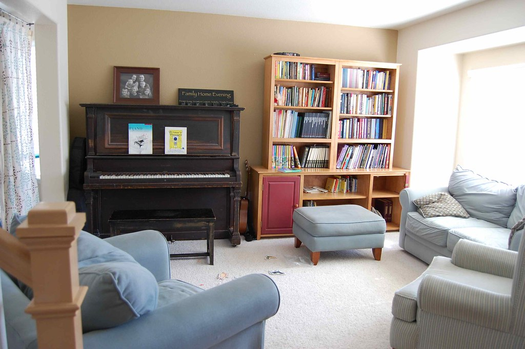 the front room with the piano