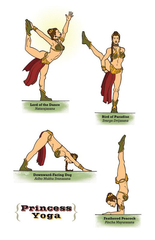 Yoga Star Wars leia slave