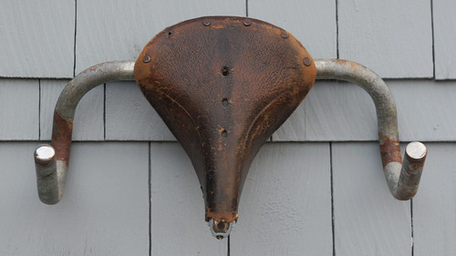 Brooks Saddle Sculpture SOLD by BikeTinker