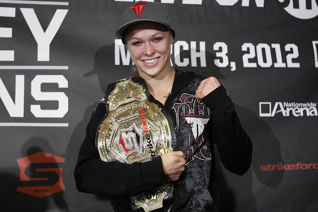 Ronda after winning Bantamweight Championship