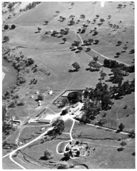 Aerial view of Murrumbidgee River &  Lanyon Homestead 12/1969 - looking north