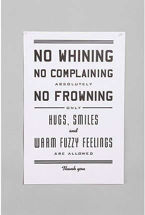 No Whinning