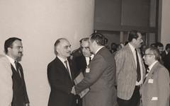 عقب حفل افتتاح المتمر الثاني للمجمع الملكي لبحوث الحضارة الاسلامية   - عمان - 1983