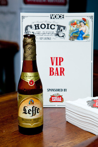 My Leffe beer at the VIP Bar