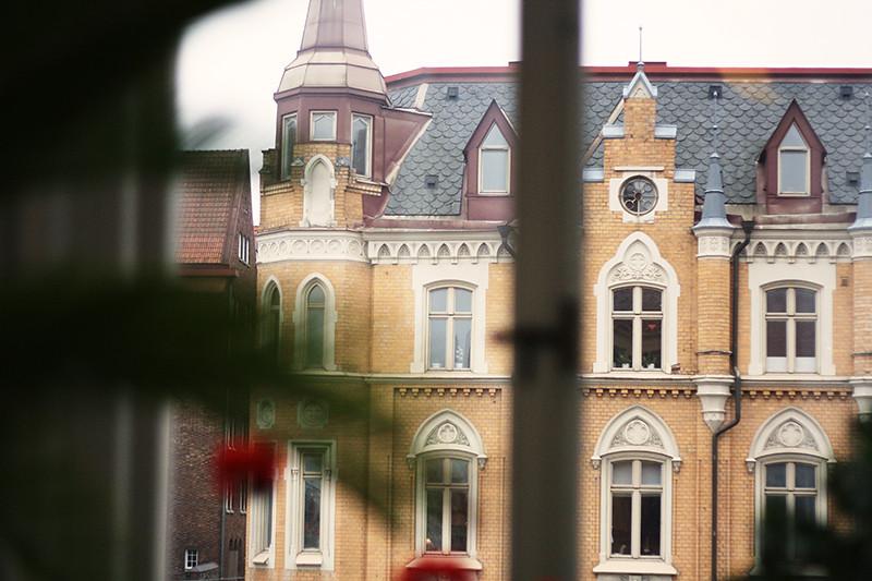 utsikt från klassrumsfönster