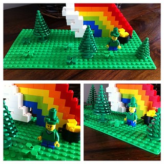 Lego St Patrick's Day model.