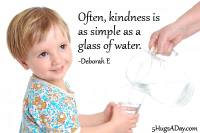 Kindness Is As Simple.. via @deborahinfo | 5HugsADay.com