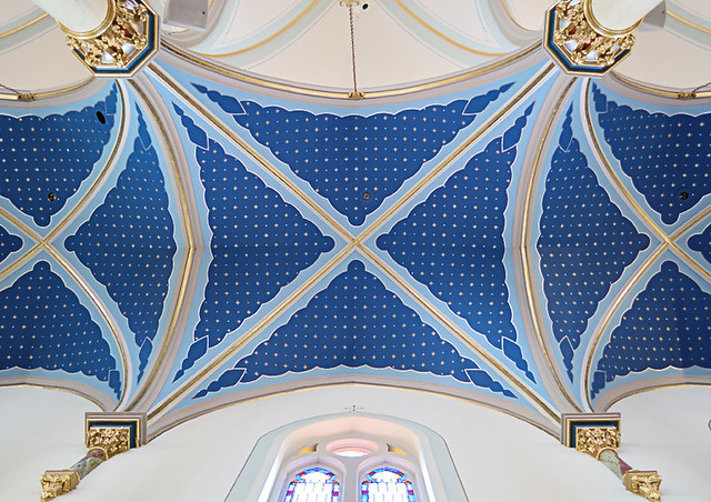 Saint Peter Roman Catholic Church, in Jefferson City, Missouri, USA - ceiling