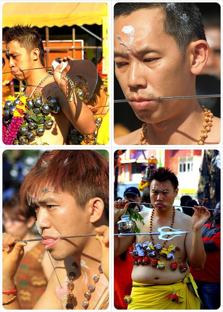 thaipusam 2012 penang chinese devotees