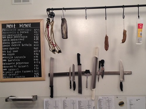 Cured, meat counter