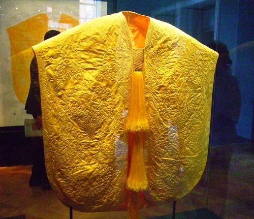 Golden Spider Silk Embroidered Cape