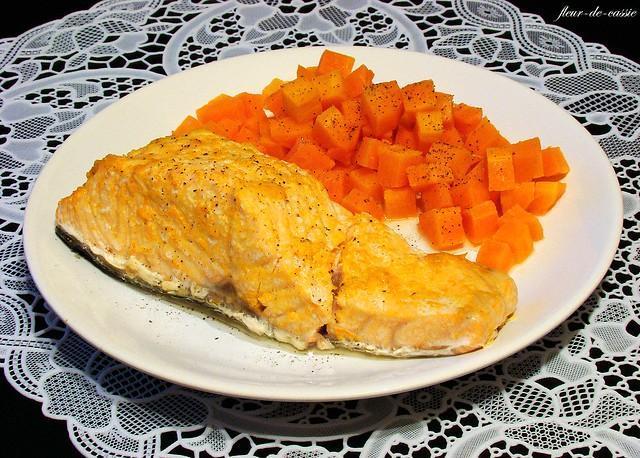 лосось с морковью и апельсином на пару 2
