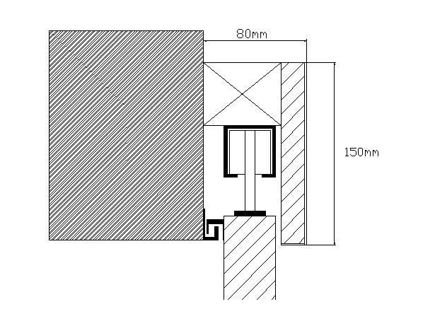 dessin porte coulissante simple 2 flickr photo sharing. Black Bedroom Furniture Sets. Home Design Ideas