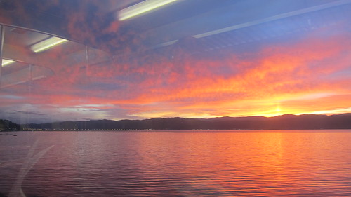 new newzealand train sunrise harbor harbour hills zealand nz wellington february eastern onlocation 2012 hutt kiwifrenzy