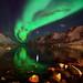 Northern lights reflections in Ersfjordbotn by John A.Hemmingsen
