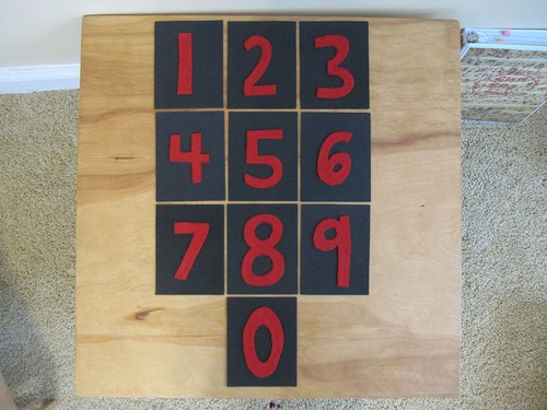 DIY Sandpaper Numerals (Photo from OurMontessoriHome.wordpress.com)